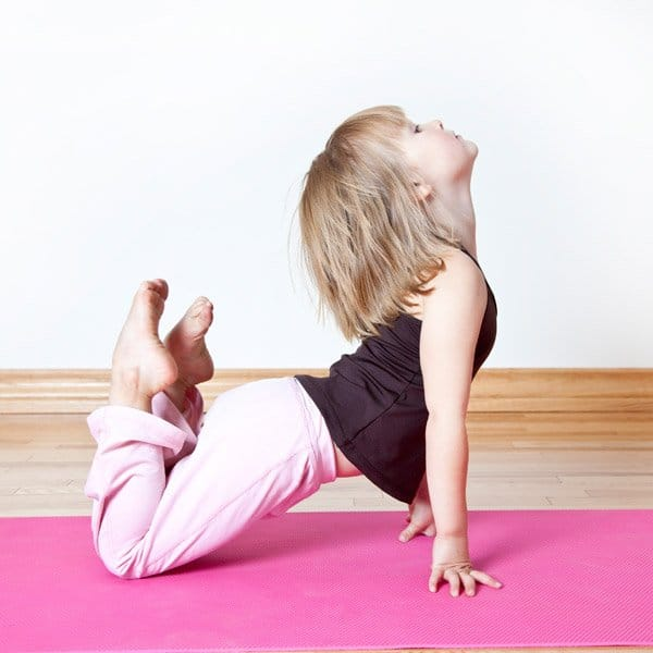 Healthy lifestyle approach - young kids yoga