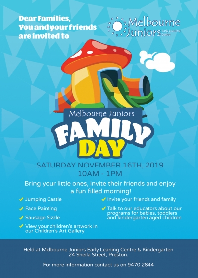 Family Day at Melbourne Juniors